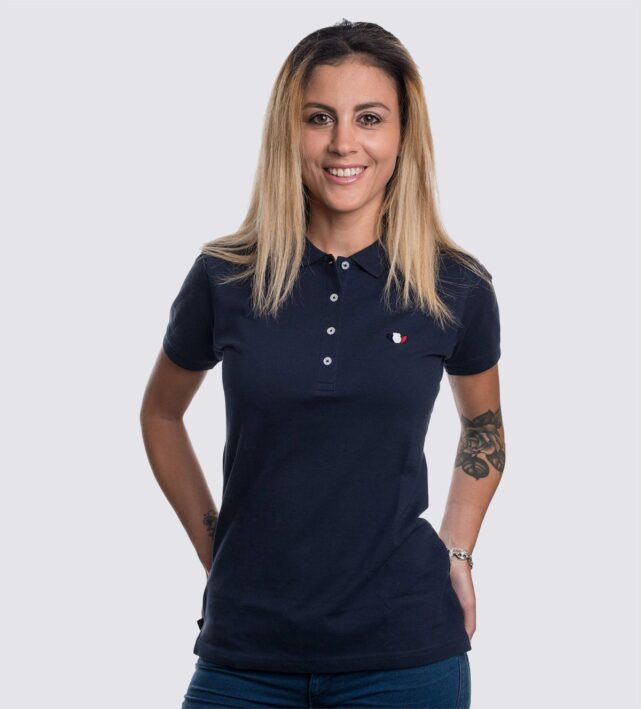 polo-femme-bleu-made-in-france