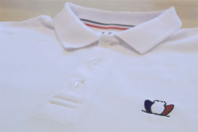 polo-homme-blanc-brode