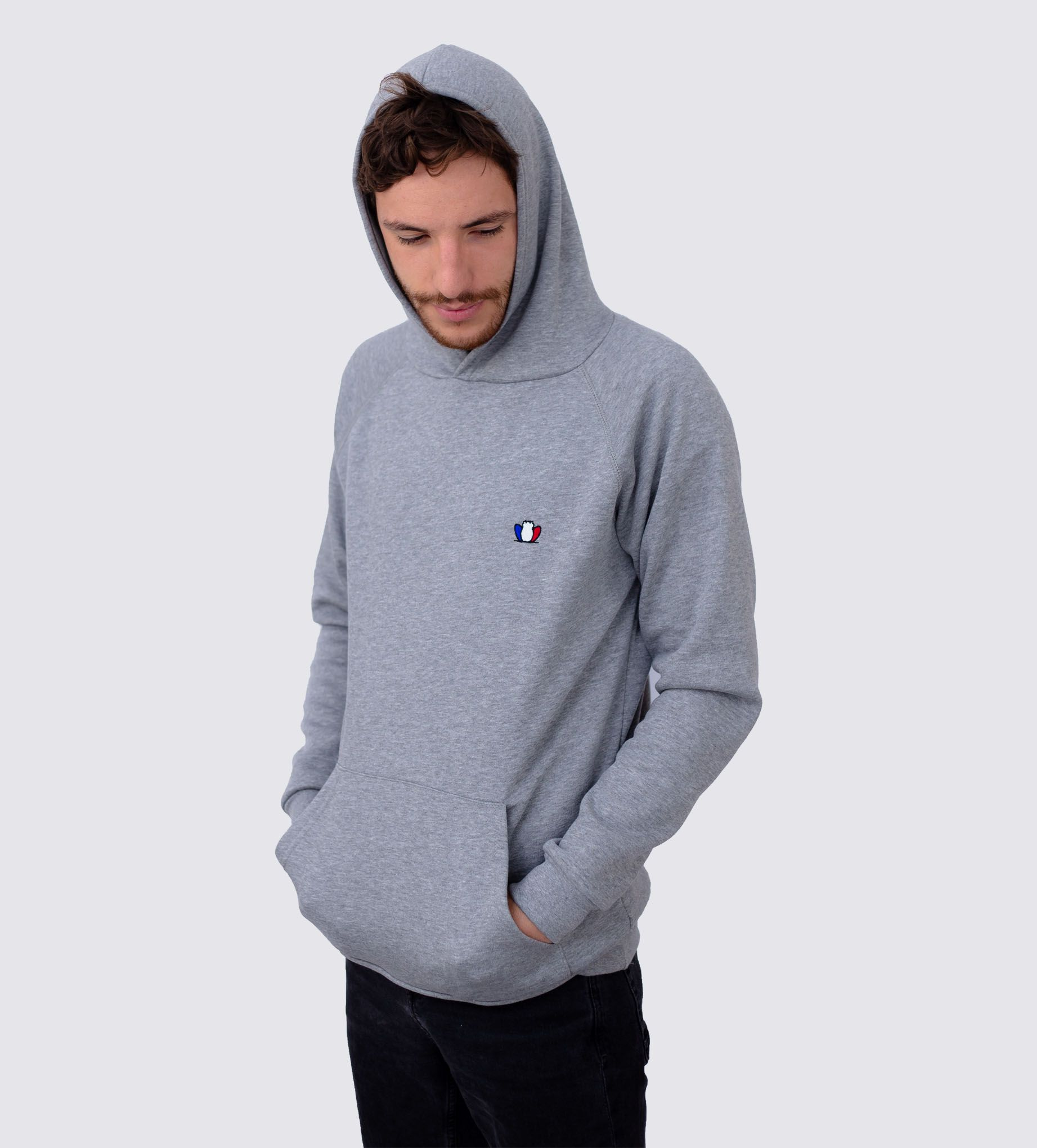 2a14349439029 LE CONFORTABLE 3.0 - Sweat à capuche gris chiné - Tranquille Émile