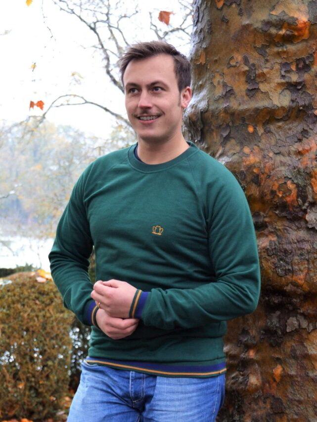 sweat-homme-made-in-france-le-forestier-vert-sapin