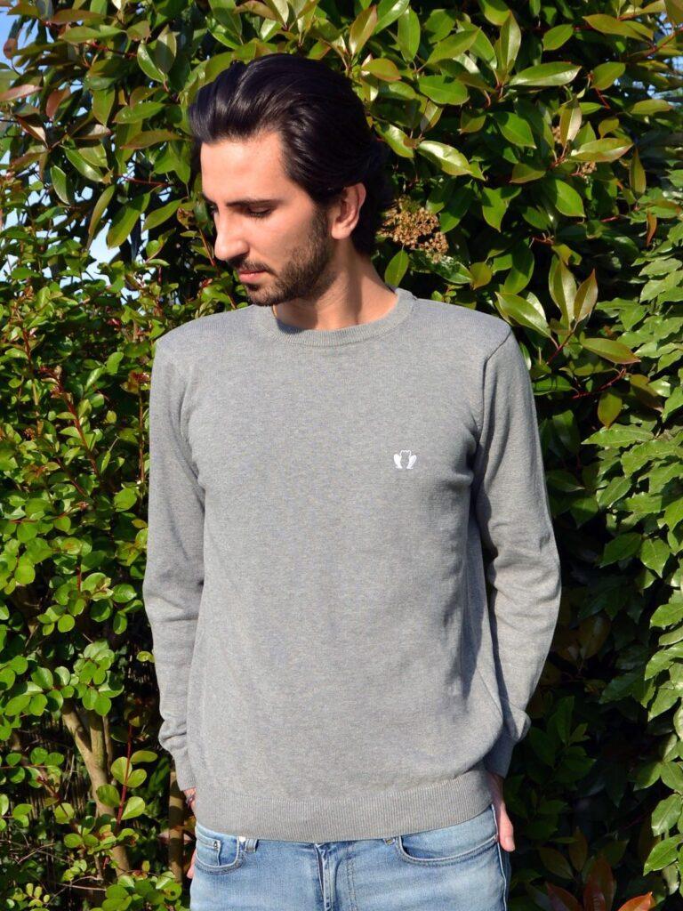 le-delicat-pull-homme-gris-coton-bio