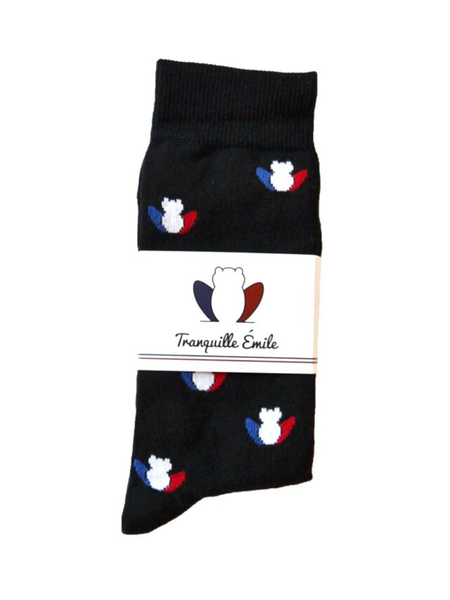 chaussettes-made-in-france-tranquille-emile-les-grenouilles-noires-tricolore-4