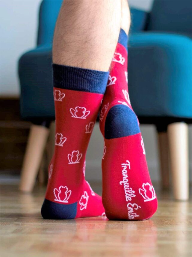 chaussettes-made-in-france-tranquille-emile-les-grenouilles-rouge-2