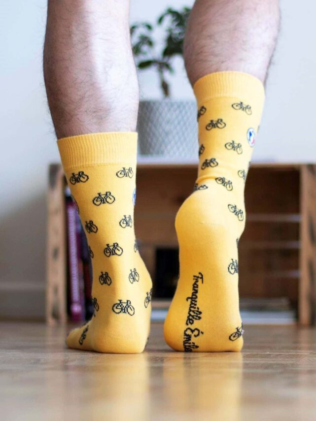 chaussettes-made-in-france-tranquille-emile-petit-velo-jaune-2