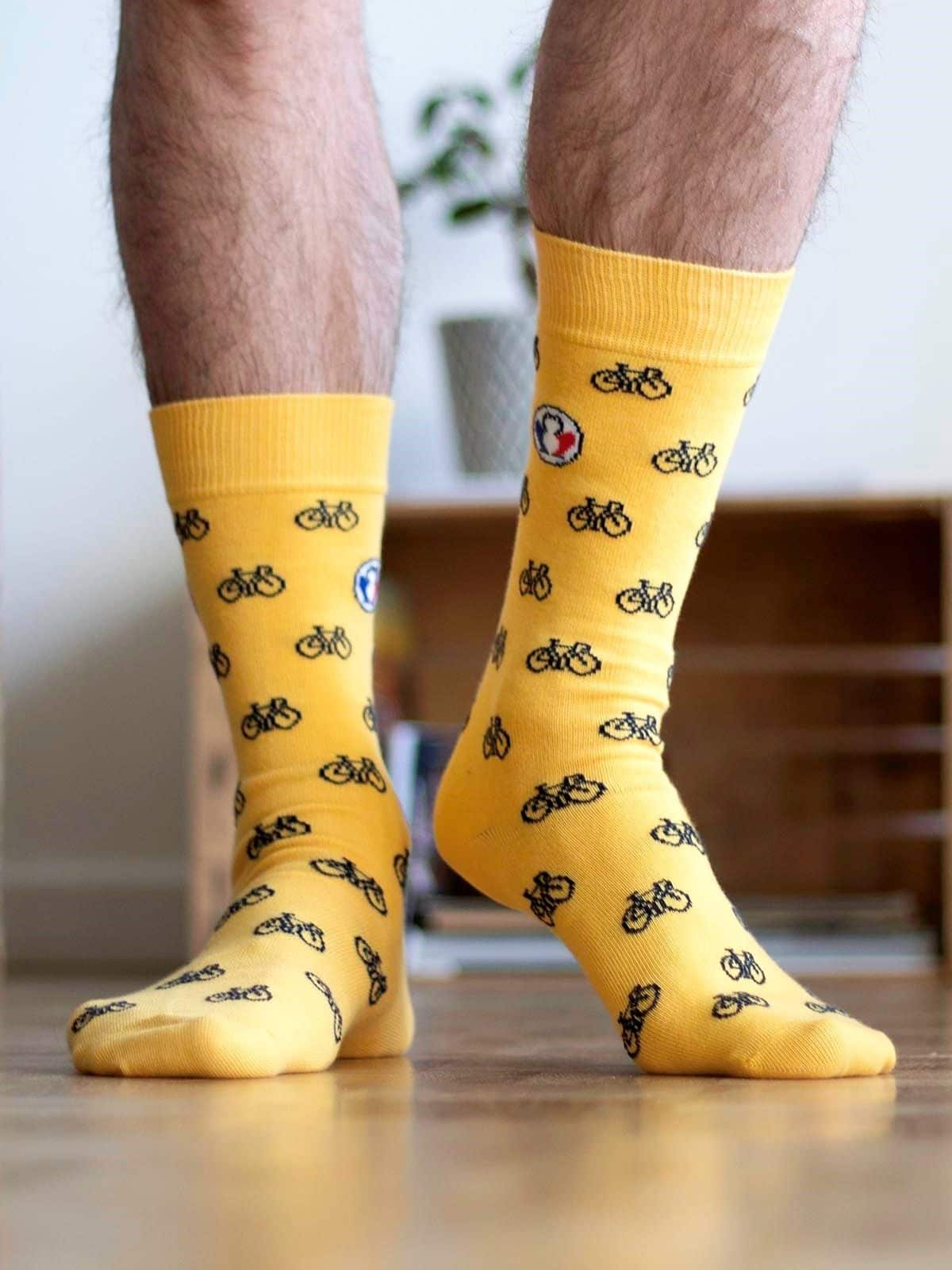 chaussettes-made-in-france-tranquille-emile-petit-velo-jaune