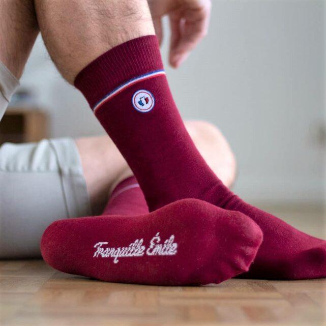 chaussettes-made-in-france-tranquille-emile-les-unies-rouge-bordeaux-2